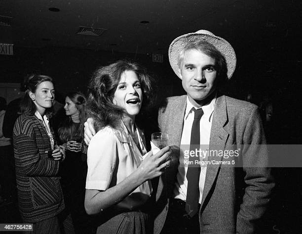 Gilda Radner and Steve Martin are photographed on the set of Saturday Night Live in October 1978 in New York City CREDIT MUST READ Ken Regan/Camera 5...