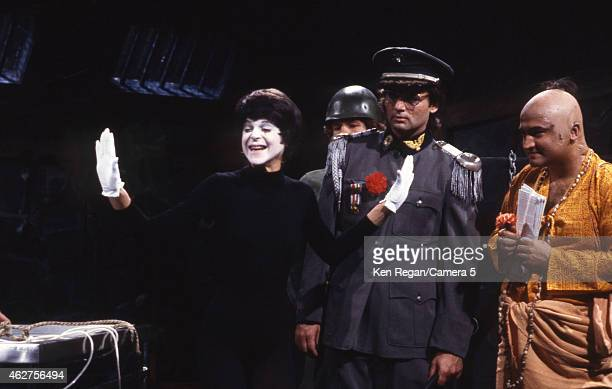 Gilda Radner Bill Murray and John Belushi are photographed on the set of Saturday Night Live in 1978 in New York City CREDIT MUST READ Ken...