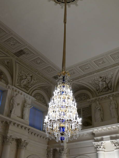 Gilded and ornate chandelier at the winter palace pictures getty gilded and ornate chandelier at the winter palace aloadofball Image collections