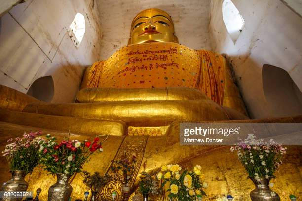 gilded buddha - theravada stock pictures, royalty-free photos & images