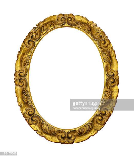 gilded wooden frame - gilded stock pictures, royalty-free photos & images