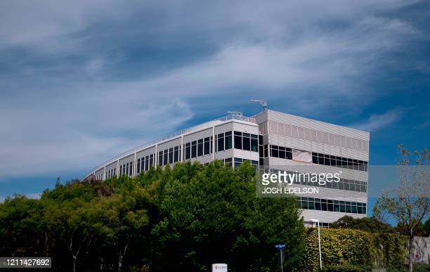 Gilead Sciences headquarters are seen in Foster City, California on April 30, 2020. - Gilead Science's remdesivir, one of the most highly anticipated...