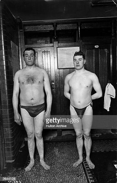 PC Giles and Thomas Battersby in training for the 1912 Olympics at Holborn Baths London