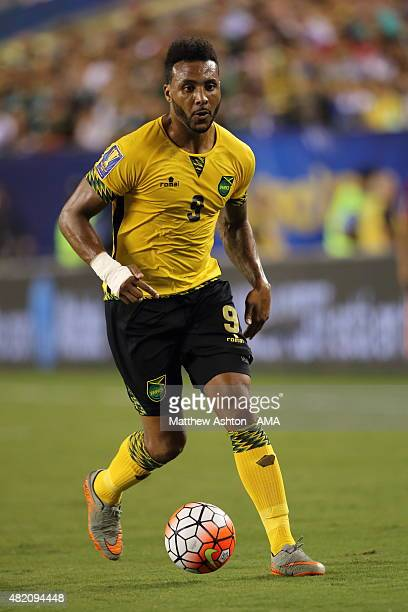 Giles Barnes of Jamaica during the 2015 CONCACAF Gold Cup Final match between Jamaica and Mexico at Lincoln Financial Field on July 26 2015 in...