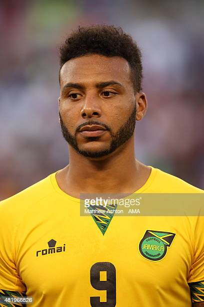 Giles Barnes of Jamaica during the Gold Cup Quarter Final between Haiti and Jamaica at MT Bank Stadium on July 18 2015 in Baltimore Maryland