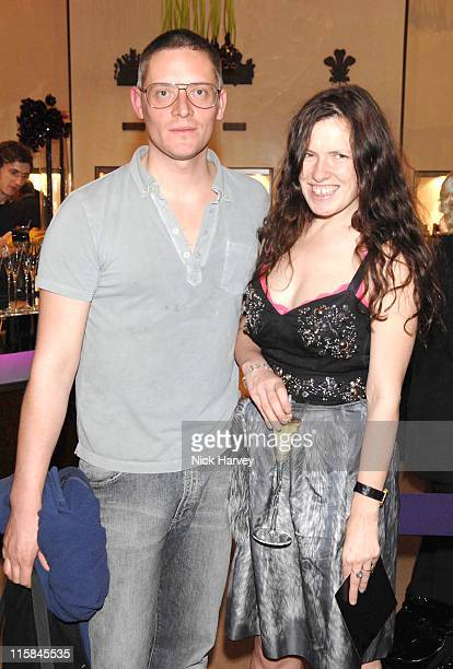 Giles Deacon and guest during The 225th Asprey Party Inside Arrivals at New Bond Street in London Great Britain