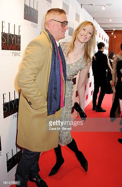 Giles Deacon and Jade Parfitt arrive at the Elle Style Awards at The Savoy Hotel on February 11 2013 in London England
