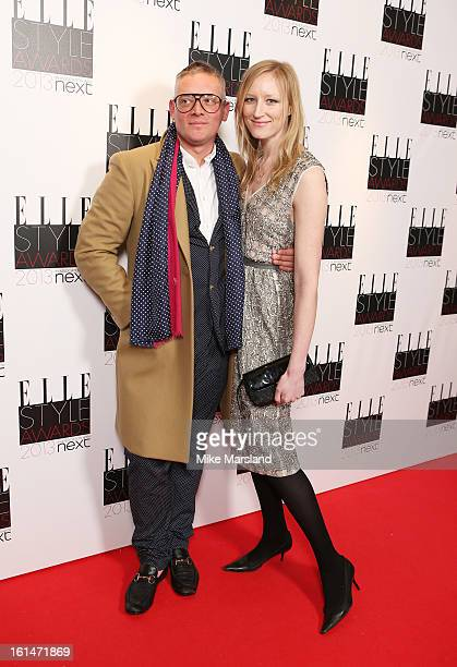 Giles Deacon and Jade Parfitt attend the Elle Style Awards 2013 at The Savoy Hotel on February 11 2013 in London England
