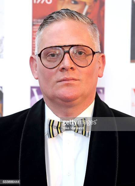 Giles Deacon arrives for the Gala to celebrate the Vogue 100 Festival Kensington Gardens on May 23 2016 in London England