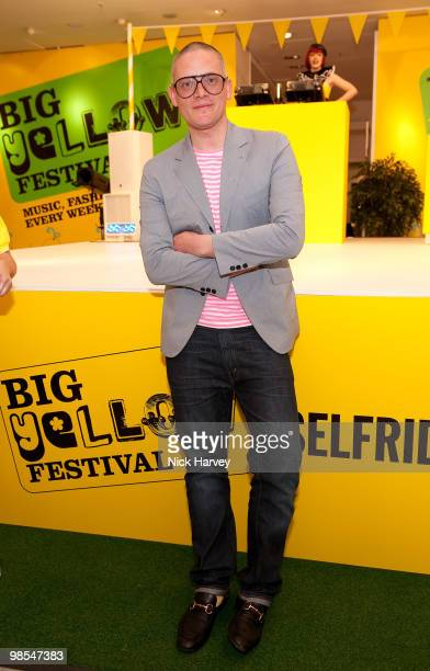 Giles Deacon attends Selfridges' 100th birthday party at Selfridges on April 30 2009 in London England