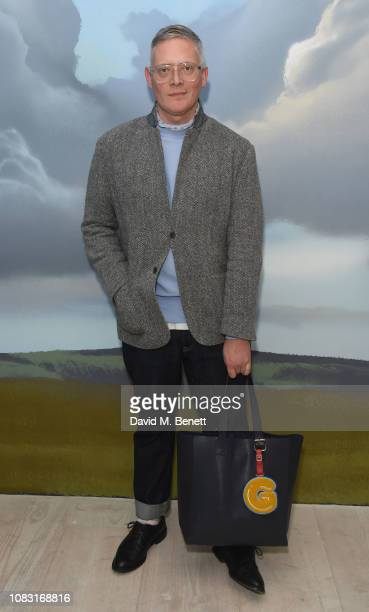 Giles Deacon attends the launch of 'Wiltshire Before Christ' by Aries X Jeremy Deller x David Sims at The Store X 180 The Strand on January 15 2019...