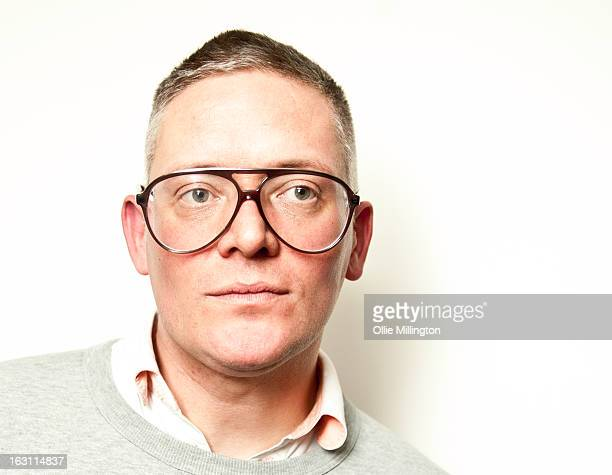 Giles Deacon poses at the launch of his Libertine collection for QVC at The Club at The Ivy on March 4 2013 in London England