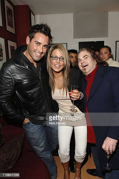 Giles Emma Green and Harrison Funk during Henri Zimand and His Charity 'Anda's Spirit' Sponsor Michael Jackson Art Exhibition at Proud Gallery in...