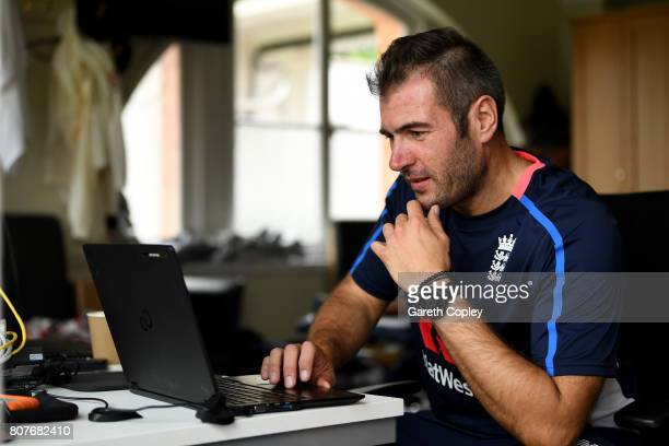 Giles Lindsay, the England team analyst at Lord's Cricket Ground on July 4, 2017 in London, England.