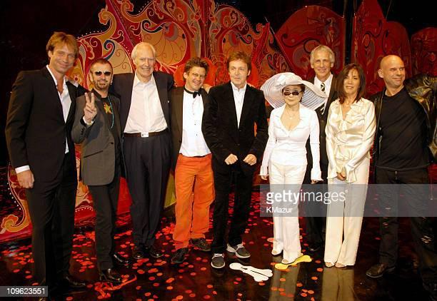 Giles Martin Ringo Starr Sir George Martin director Dominic Champagne Sir Paul McCartney Yoko Ono guest Olivia Harrison and Cirque du Soleil founder...