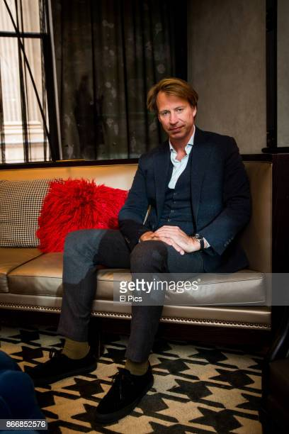 Giles Martin sits for a portrait whilst he is here for the INXS Kick remastered launch at QT Hotel Sydney on October 25th 2017 in Sydney Australia