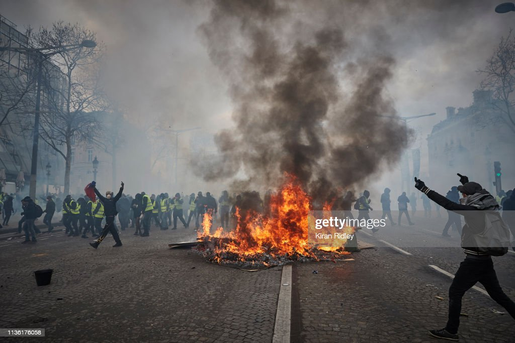 18th Act Of The Gilets Jaunes : News Photo