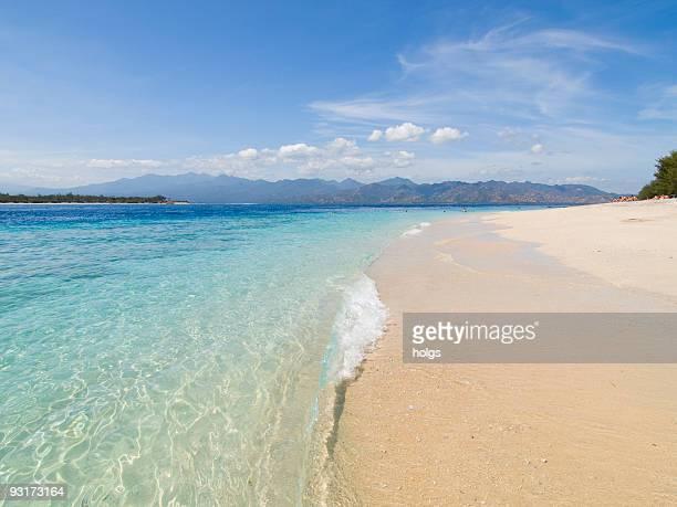 gili island beach scene - gili trawangan bildbanksfoton och bilder