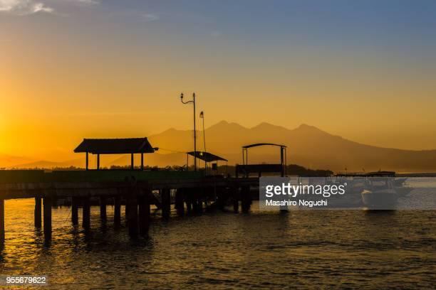 Gili Trawangan port in the early morning