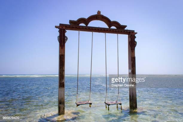 gili trawangan swings, indonesia - gili trawangan bildbanksfoton och bilder