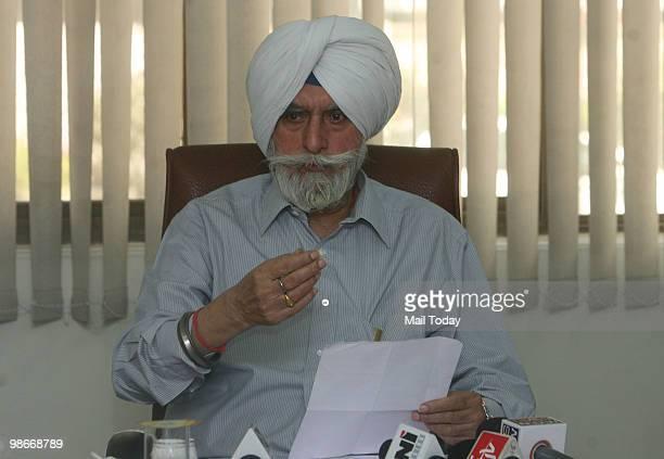 Gill addresses a press conference in New Delhi on April 25 2010