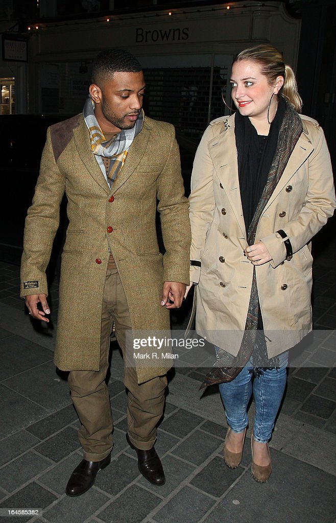 JB Gill and Chloe Tangney at Amika night club on March 24, 2013 in London, England.