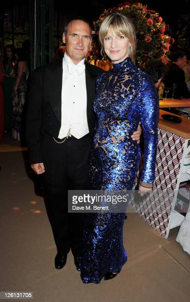 A A Gill and Nicola Formby attend a champagne reception at the Raisa Gorbachev Foundation Gala held at the Stud House Hampton Court on September 22...