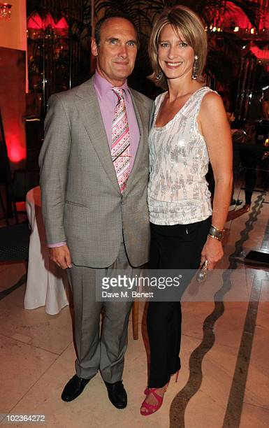 AA Gill and Nicola Formby attend the Diane Von Furstenberg and Claridge's launch party at Claridge's on June 23 2010 in London England