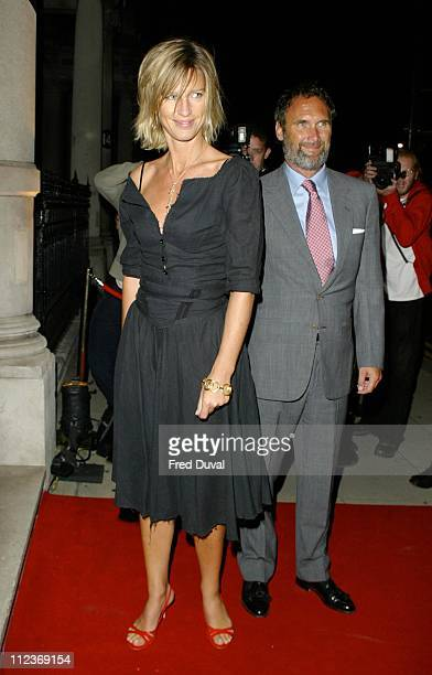 AA Gill and Nicola Formby during Dom Perignon Party in Aid of English PEN at 13 Grosvenor in London United Kingdom
