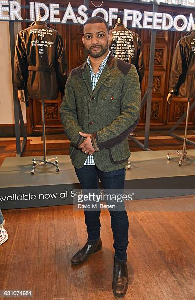 Gill attends the Barbour International presentation during London Fashion Week Men's January 2017 collections at RIBA on January 6 2017 in London...