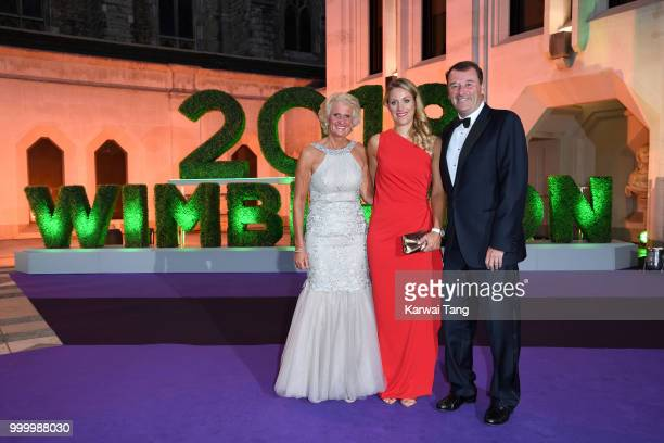 Gill Brook Angelique Kerber and Philip Brook attend the Wimbledon Champions Dinner at The Guildhall on July 15 2018 in London England