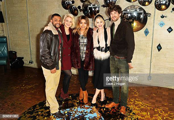 JB Gill Chloe Tangney Dionne Bromfield Kimberly Wyatt and Max Rogers attend a celebration of the new TV channel 'W' launching on Monday 15th February...