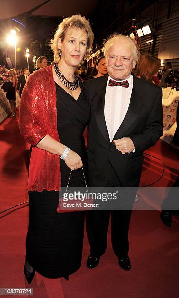 Gill Hinchcliffe and Sir David Jason arrive at the National Television Awards at O2 Arena on January 26 2011 in London England