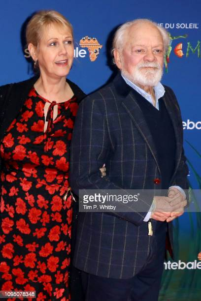 Gill Hinchcliffe and Sir David Jason attend the Cirque du Soleil Premiere Of TOTEM at Royal Albert Hall on January 16 2019 in London England