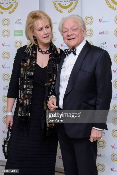 Gill Hinchcliffe and Sir David Jason attend the National Film Awards at Porchester Hall on March 29 2017 in London United Kingdom