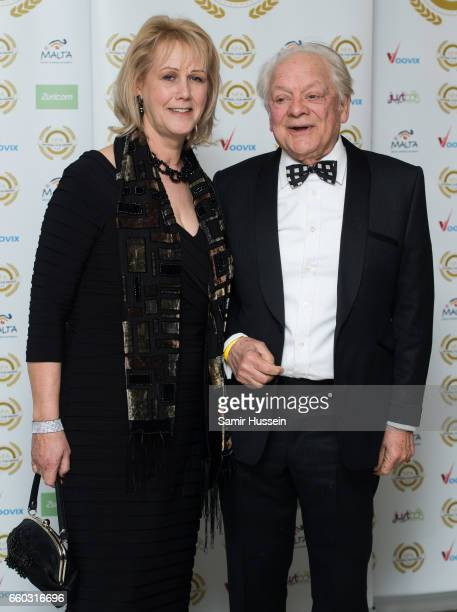 Gill Hinchcliffe and Sir David Jason attend the National Film Awards on March 29 2017 in London United Kingdom