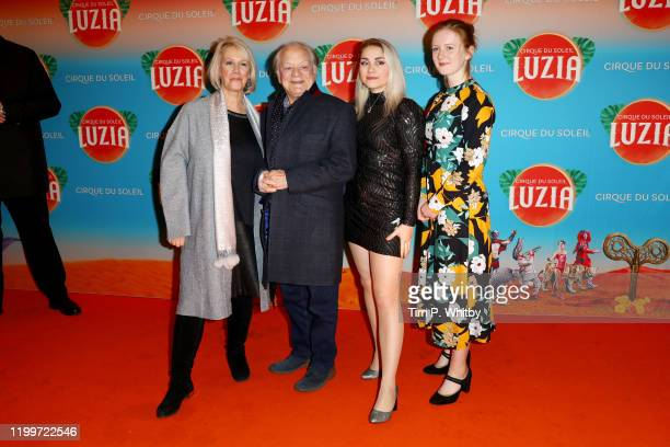 """Gill Hinchcliffe, Sir David Jason , Sophie Mae Jason and guest attend Cirque du Soleil's """"LUZIA"""" at Royal Albert Hall on January 15, 2020 in London,..."""