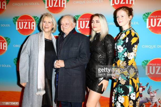 Gill Hinchcliffe Sir David Jason Sophie Mae Jason and guest attend Cirque du Soleil's LUZIA at Royal Albert Hall on January 15 2020 in London England