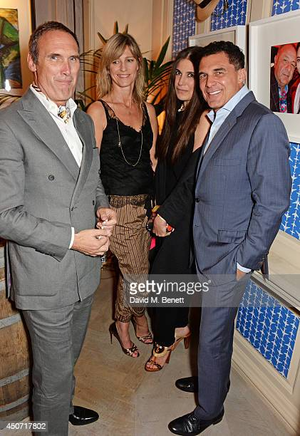 A A Gill Nicola Formby Elizabeth Saltzman and Andre Balazs attend the LimoLand SS15 collection preview hosted by Jean Pigozzi and Elizabeth Saltzman...