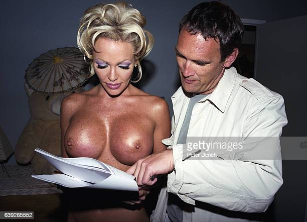 AA Gill on set of Hot House Tales an adult movie he scripted and directed in 1999 starring one of the world's biggest porn stars Houston Adrian...