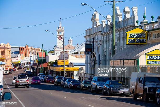 Gill Street with beautifully preserved buildings in the heart of the city the One Square Mile Charters Towers Queensland Australia