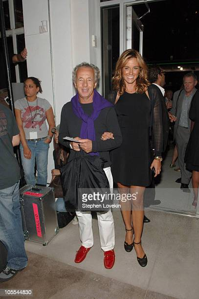 Gilles Bensimon and Kelly Bensimon at Narciso Rodriguez Spring 2006