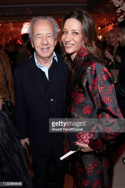 Gilles Bensimon and Marpessa Hennink attend the 80th Kenzo Takada Birthday Party at Pavillon Ledoyen on February 28 2019 in Paris France