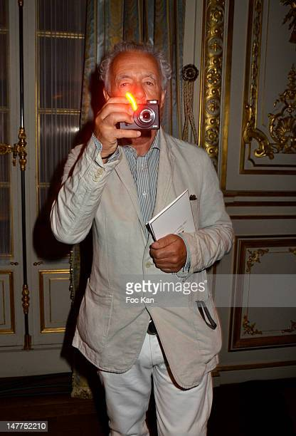 Gilles Bensimon attends the Alexis Mabille HauteCouture Show as part of Paris Fashion Week Fall / Winter 2013 at Hotel ShangriLa on July 2 2012 in...