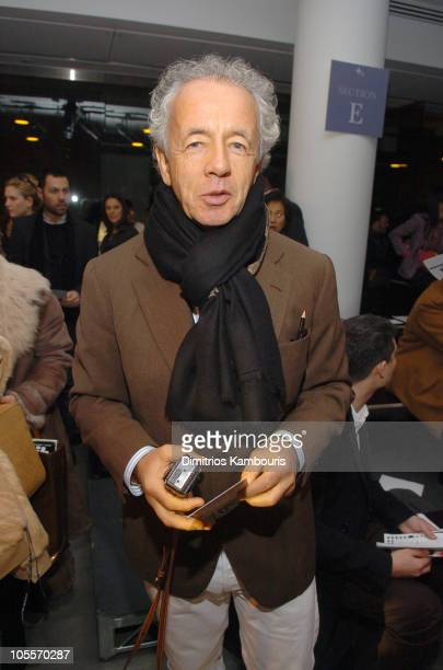 Gilles Bensimon during Olympus Fashion Week Fall 2005 Proenza Schouler Front Row at Milk Studios in New York City New York United States