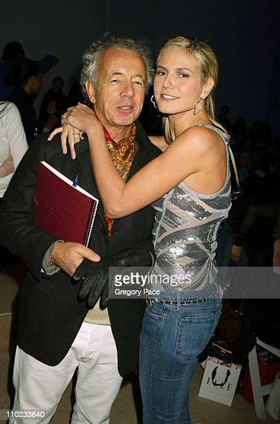 Gilles Bensimon Publiction Director of Elle Magazine and Heidi Klum