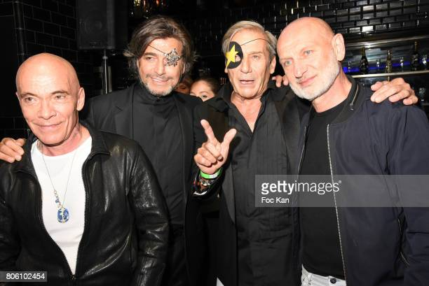 Gilles Blanchard Alain Benoist Alexandre Zouari and Pierre Commoy attend the Facade Magazine Dinner at VIP Room on July 2 2017 in Paris France