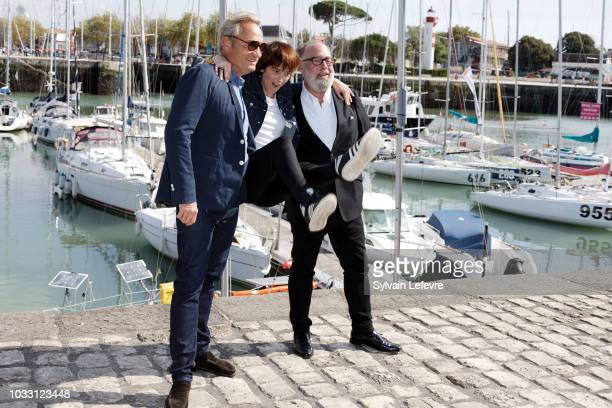 Gilles Cohen and Florence LoiretCaille attend day 3 photocall of 20th Festival of TV Fiction on September 14 2018 in La Rochelle France