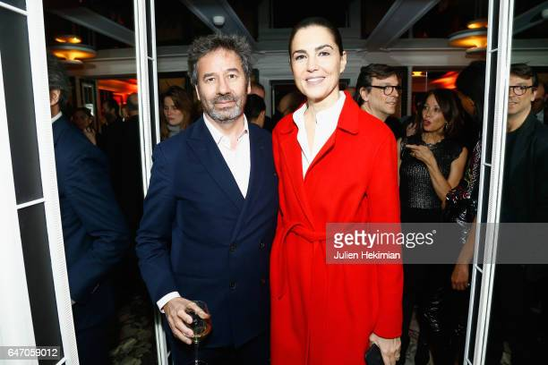 Gilles De Poix and a guest attend the Mastermind Magazine launch dinner as part of Paris Fashion Week Womenswear Fall/Winter 2017/2018 at Loulou...
