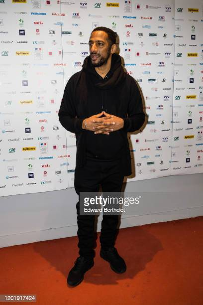Gilles Duarte Stomy Bugsy French actor and rapper attends the Le temps Presse Festival Closing Ceremony photocall At UGC LyonBastille In Paris on...